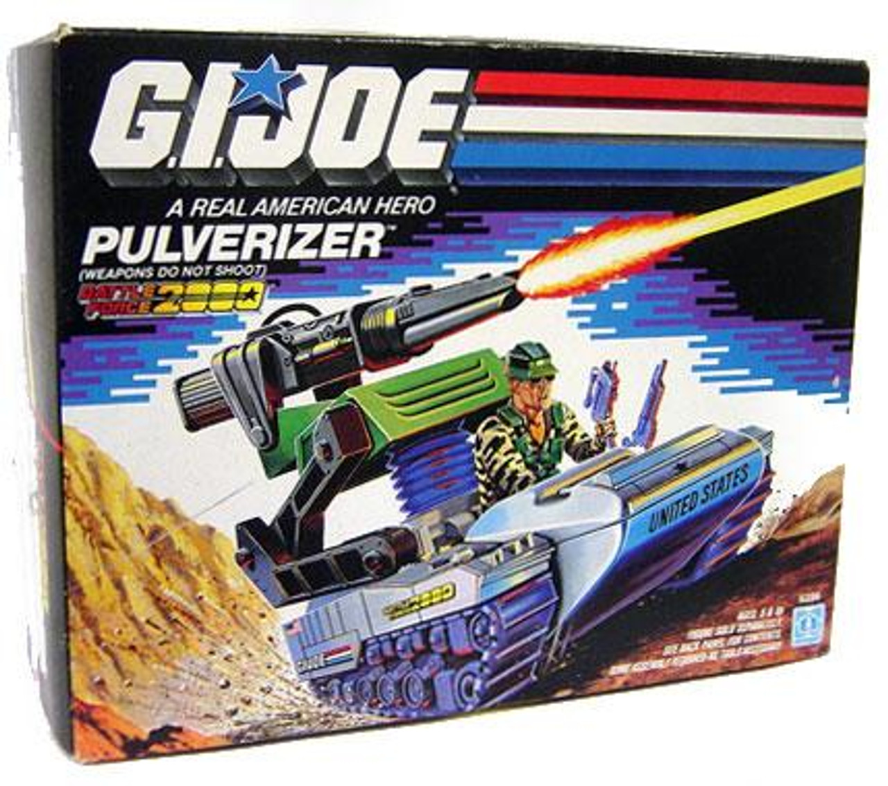 GI Joe Vintage Pulverizer Action Figure Vehicle