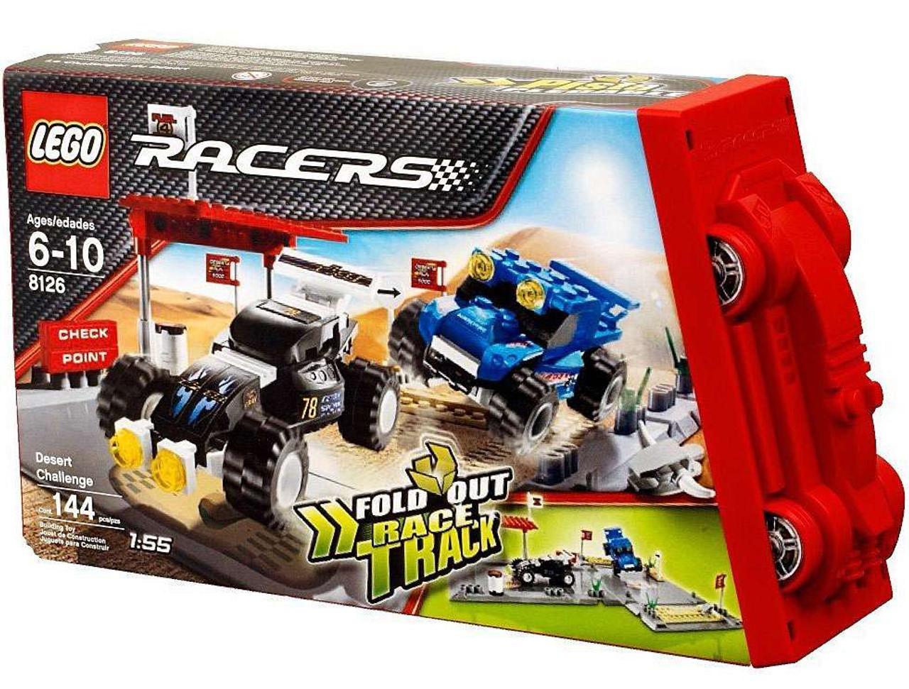 LEGO Racers Fold Out Race Tracks Desert Challenge Set #8126