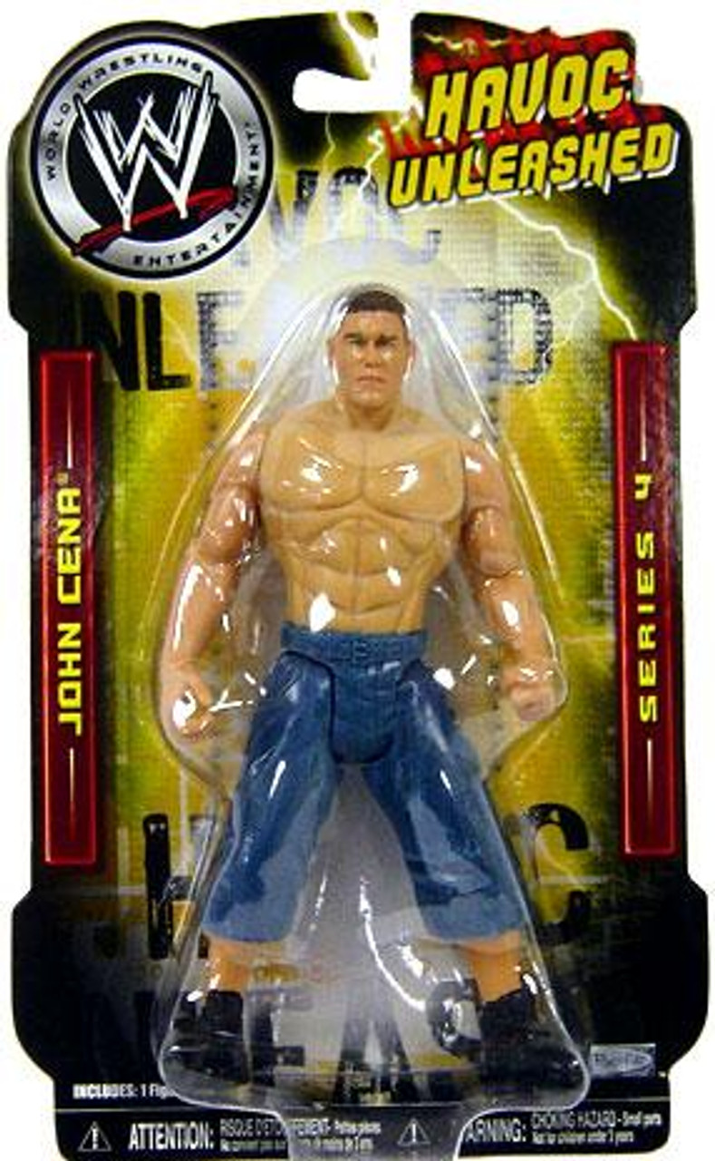 WWE Wrestling Havoc Unleashed Series 4 John Cena Action Figure