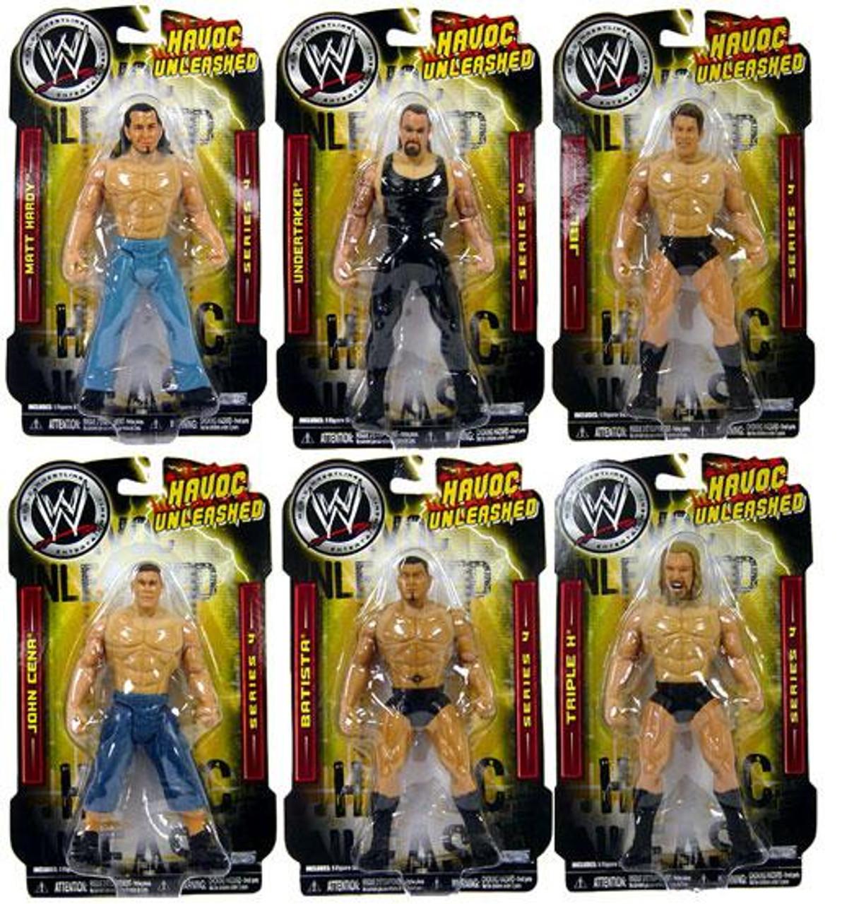 WWE Wrestling Havoc Unleashed Series 4 Set of 6 Action Figures