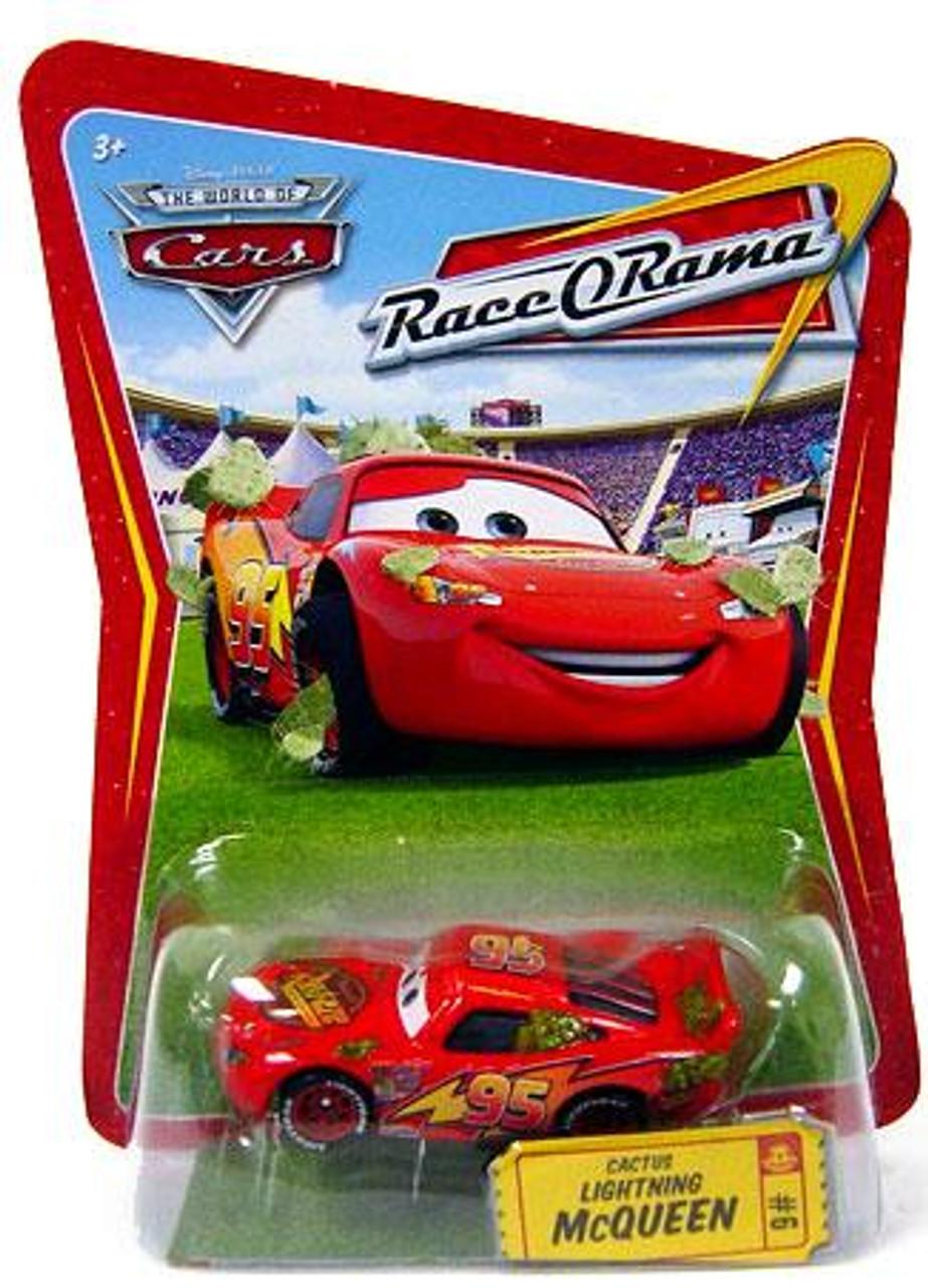 Disney Cars The World of Cars Race-O-Rama Cactus Lightning McQueen Diecast Car #6