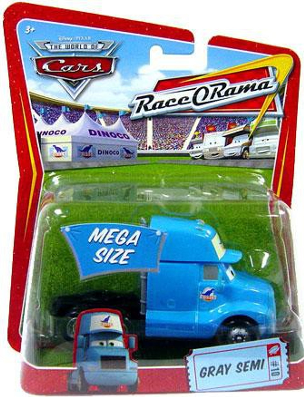 Disney Cars The World of Cars Race-O-Rama Gray Semi Diecast Car #10