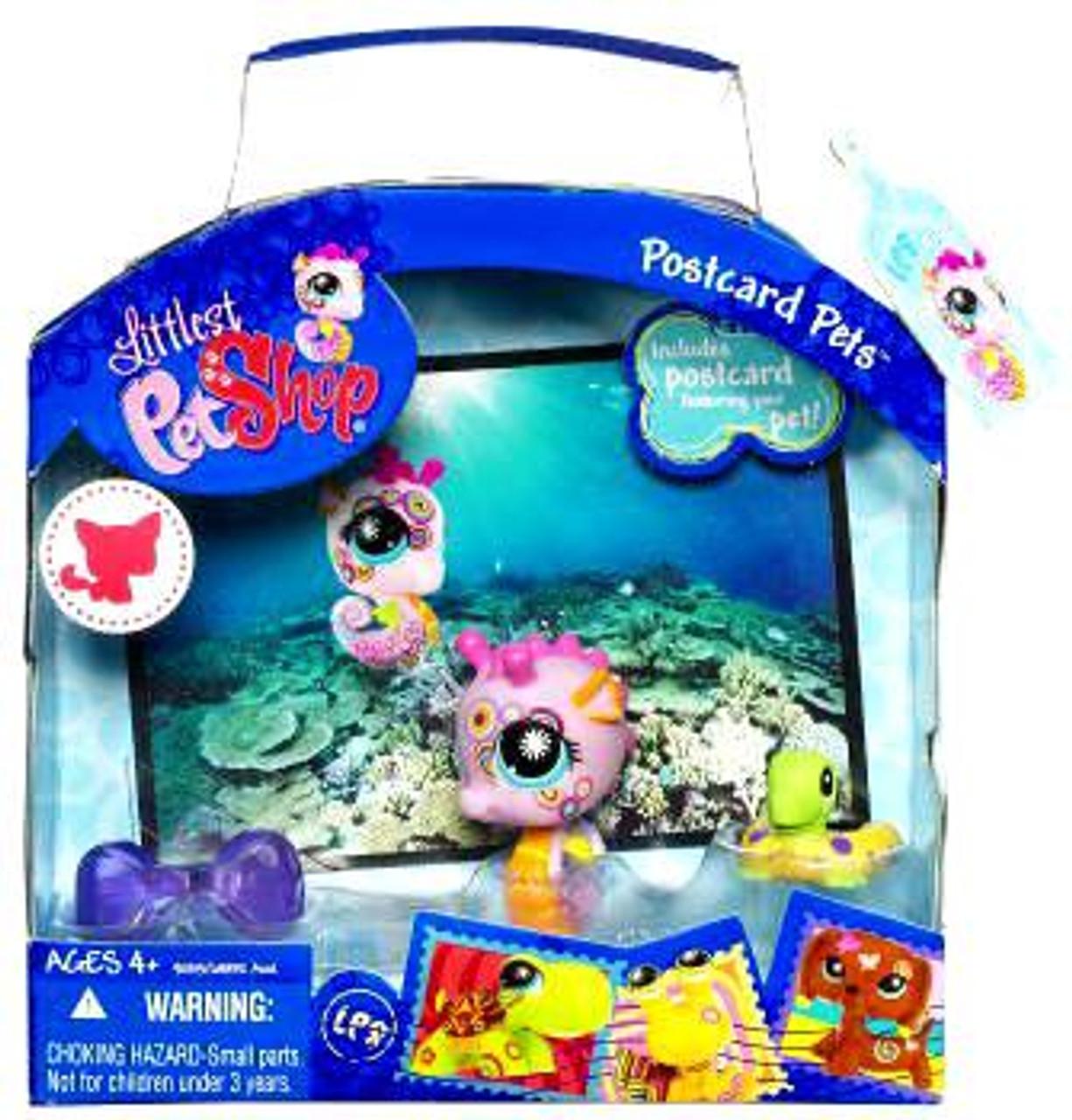 Littlest Pet Shop Postcard Pets Series 2 Seahorse Figure