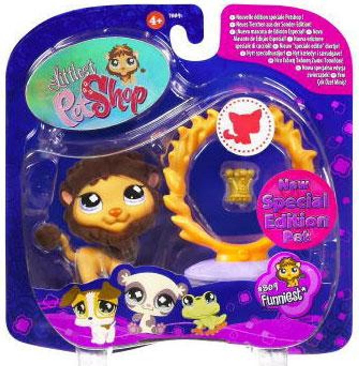 Littlest Pet Shop 2009 Assortment A Series 1 Lion Figure #809 [Flaming Hoop & Crown]
