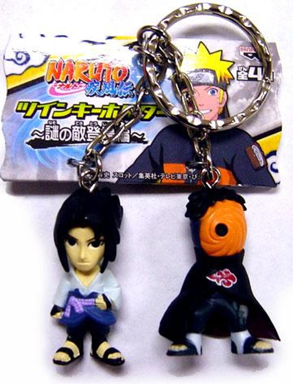 Naruto PVC Sasuke & Tobi 1.5-Inch Keychain
