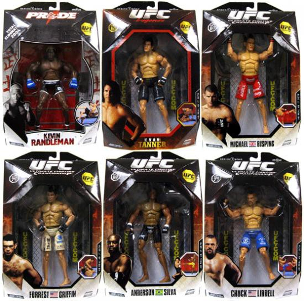 UFC Collection Series 1 Set of 6 Action Figures