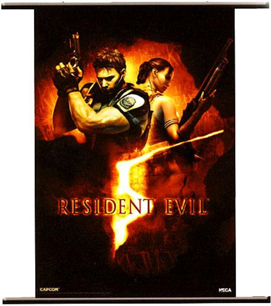 NECA Resident Evil 5 Wall Scroll [Box Art]