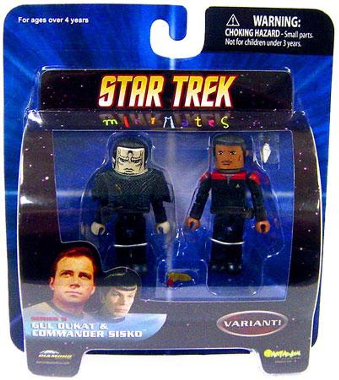 Star Trek Deep Space 9 MiniMates Series 5 Gul Dukat & Commander Sisko Minifigure 2-Pack [Variant]