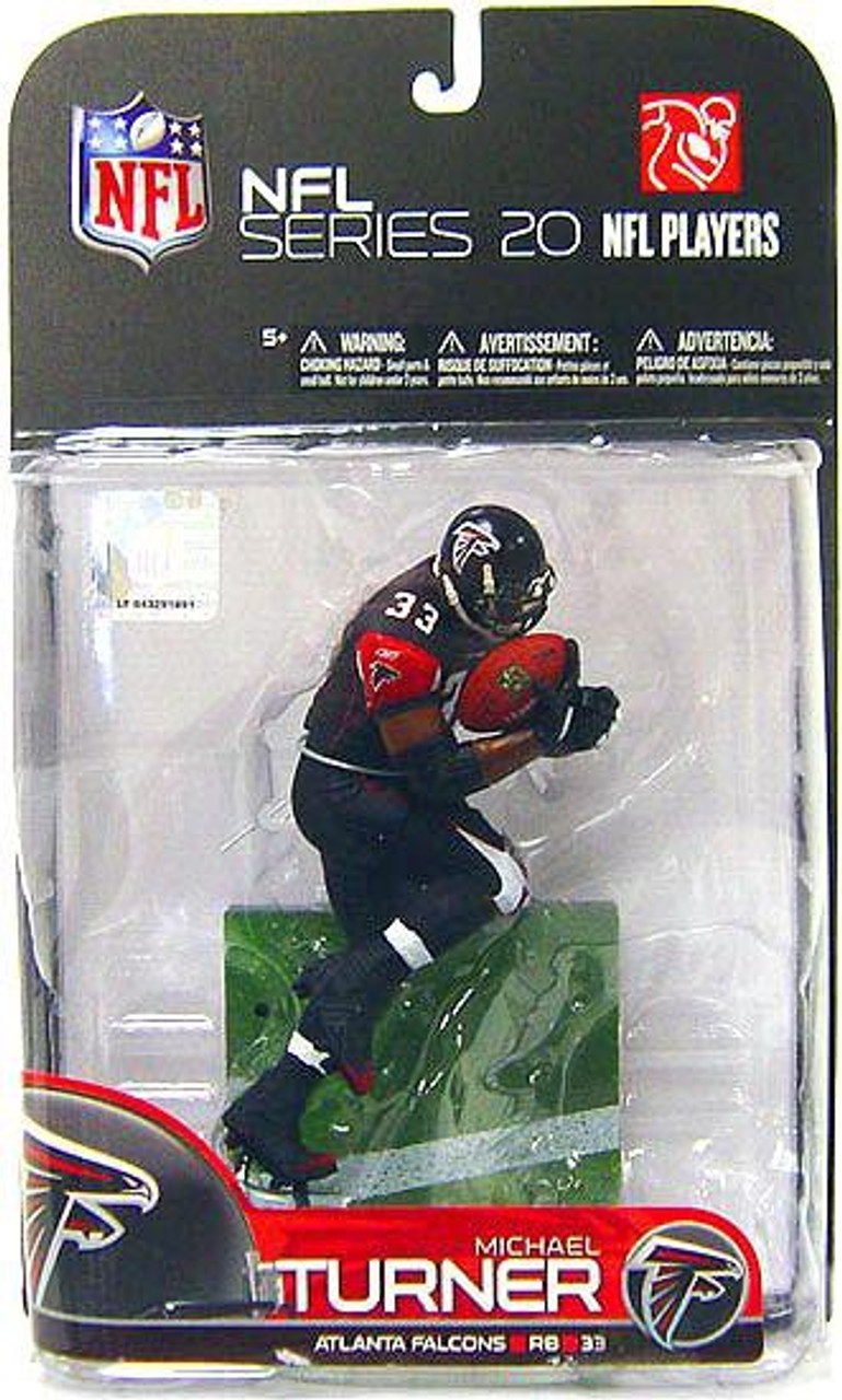 McFarlane Toys NFL Atlanta Falcons Sports Picks Series 20 Michael Turner Action Figure [Black Jersey]