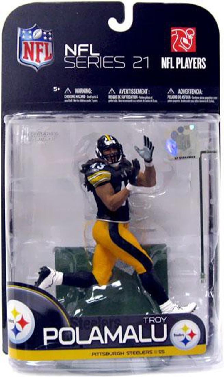 McFarlane Toys NFL Pittsburgh Steelers Sports Picks Series 21 Troy Polamalu Action Figure