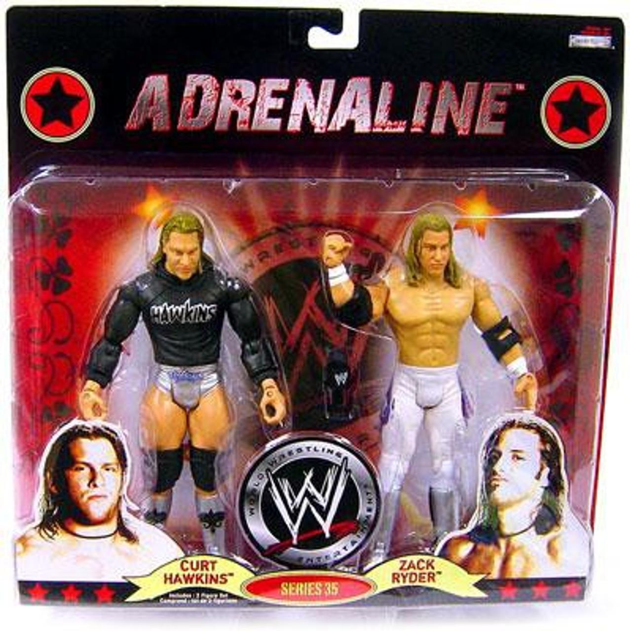 WWE Wrestling Adrenaline Series 35 Curt Hawkins & Zack Ryder Action Figure 2-Pack