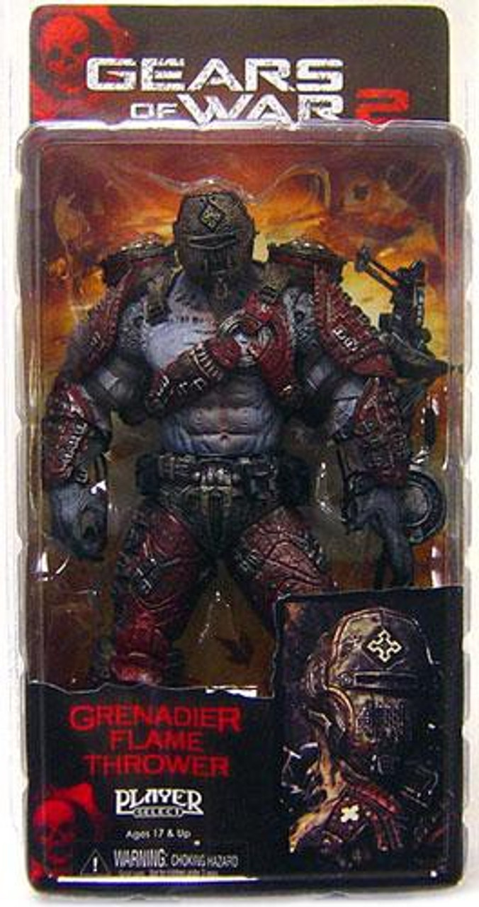 NECA Gears of War 2 Series 4 Locust Grenadier Action Figure [Helmeted, Flame Thrower]