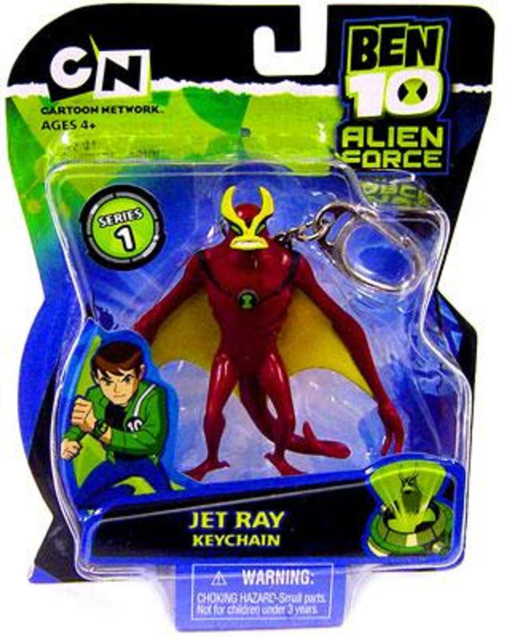 Ben 10 Alien Force Jet Ray Keychain