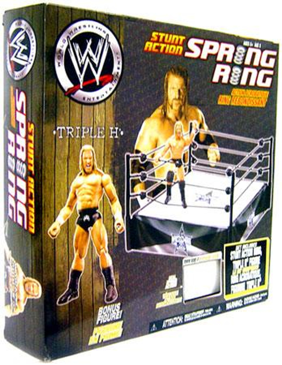 WWE Wrestling Playsets Stunt Action Spring Ring Action Figure Playset