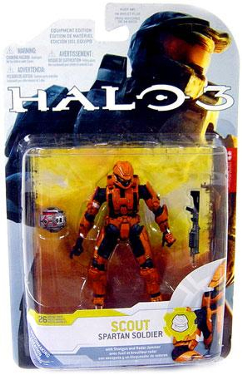 McFarlane Toys Halo 3 Series 4 Spartan Soldier Scout Exclusive Action Figure [Orange]