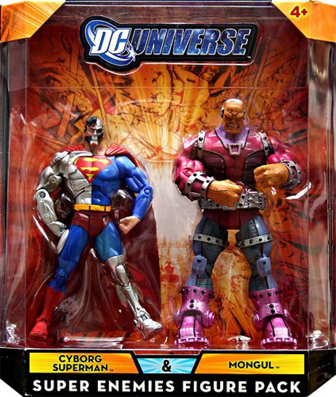 DC Universe Cyborg Superman & Mongul Exclusive Action Figures