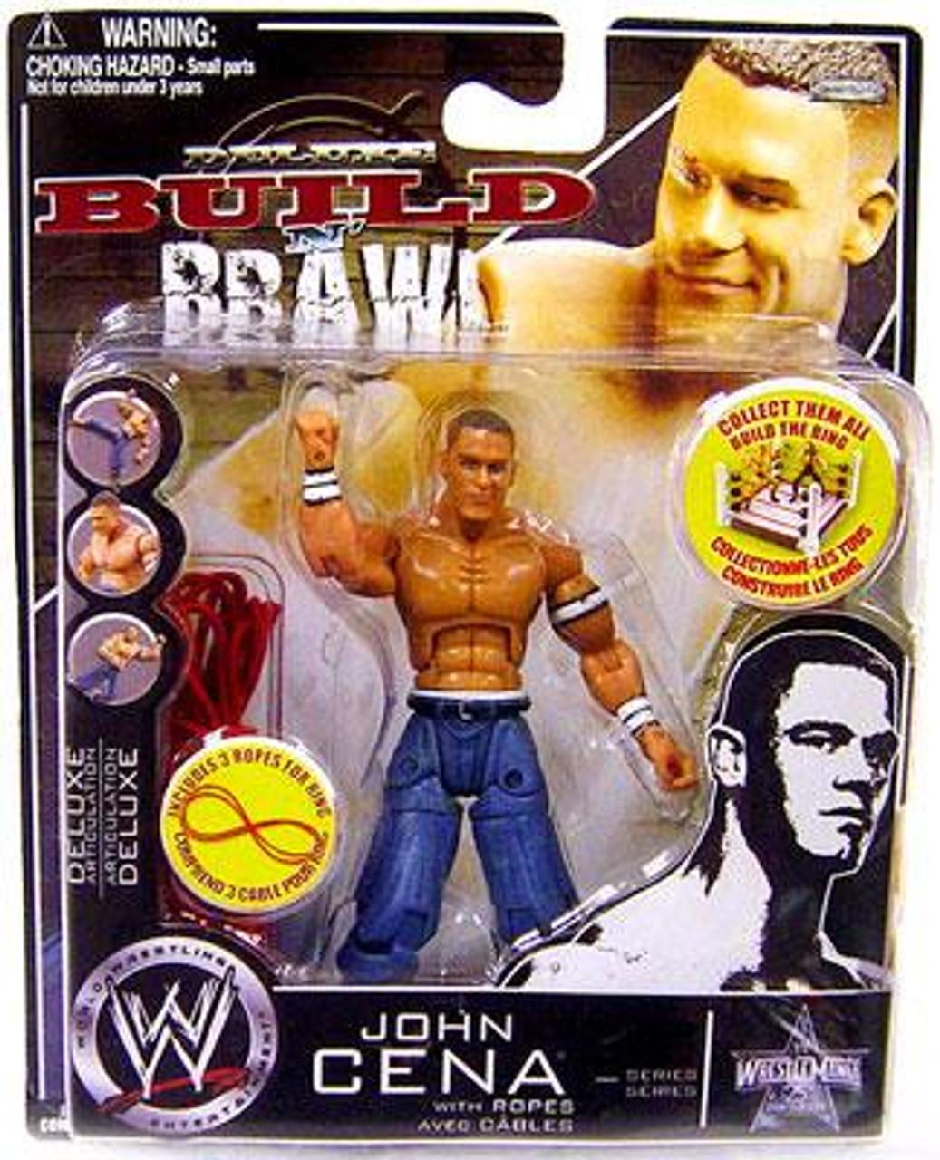 WWE Wrestling Build N' Brawl 25th Anniversary John Cena Action Figure