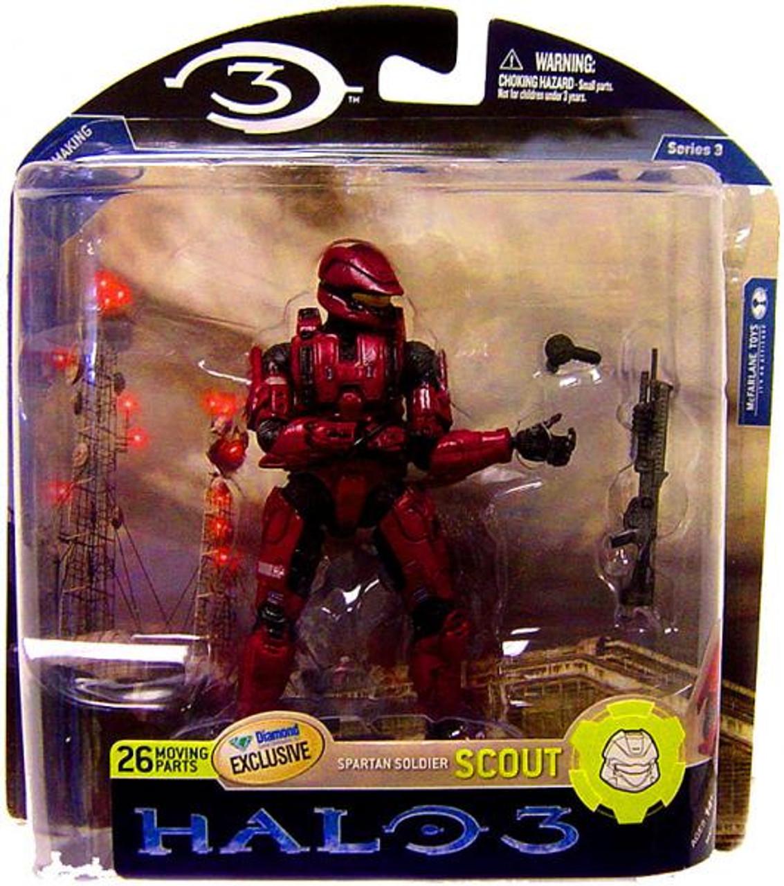 McFarlane Toys Halo 3 Series 3 Spartan Soldier Scout Exclusive Action Figure [Crimson]