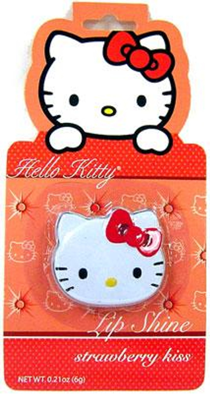 Hello Kitty Strawberry Kiss Lip Shine [Candy-Flavored]