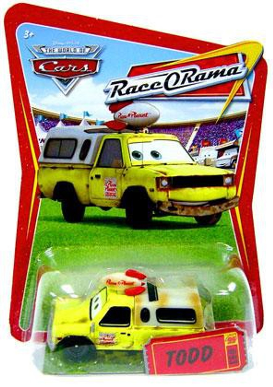 Disney Cars The World of Cars Race-O-Rama Todd Pizza Planet Truck Diecast Car #93
