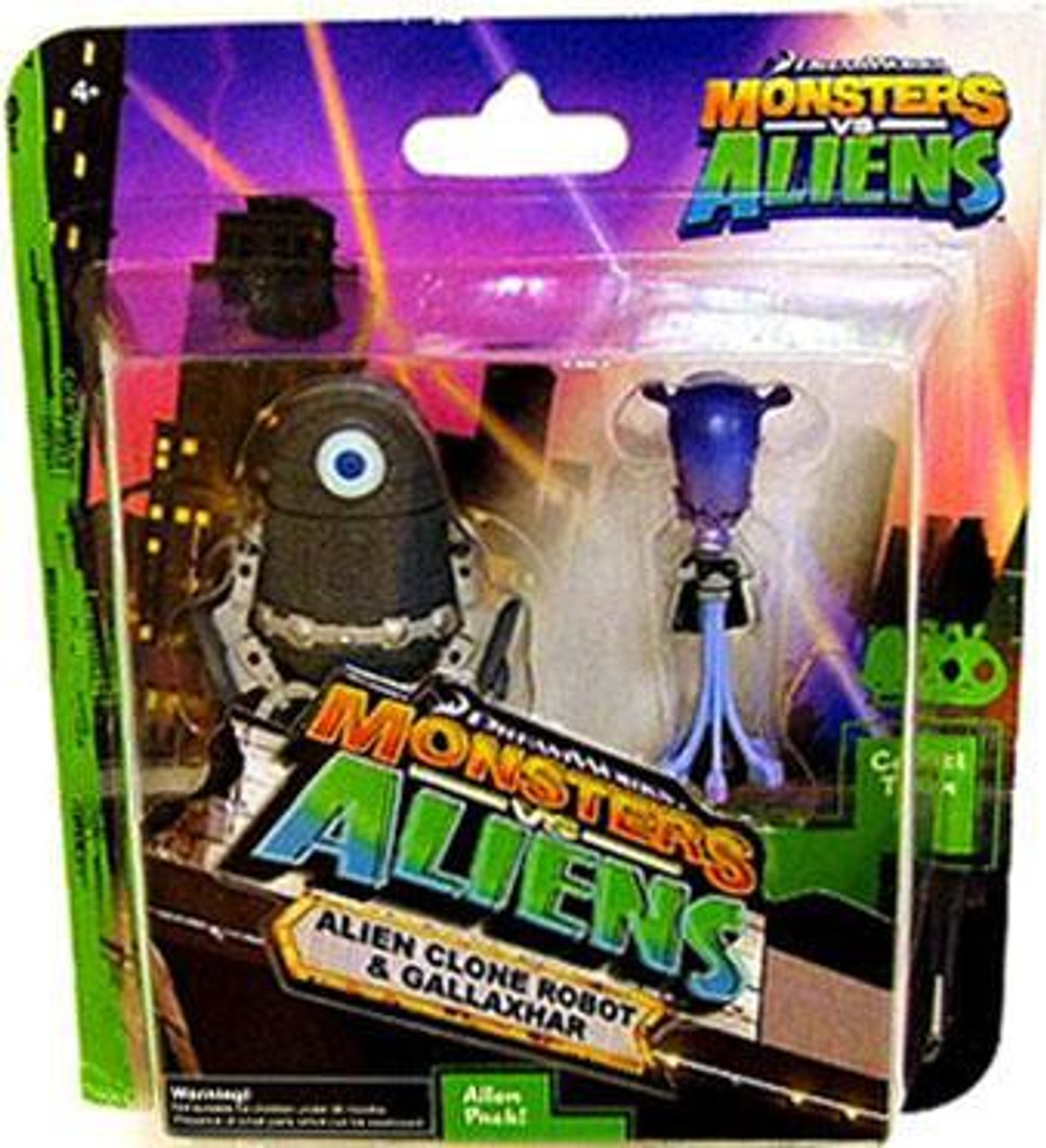 Monsters vs. Aliens Alien Clone Robot & Gallaxhar Mini Figure 2-Pack