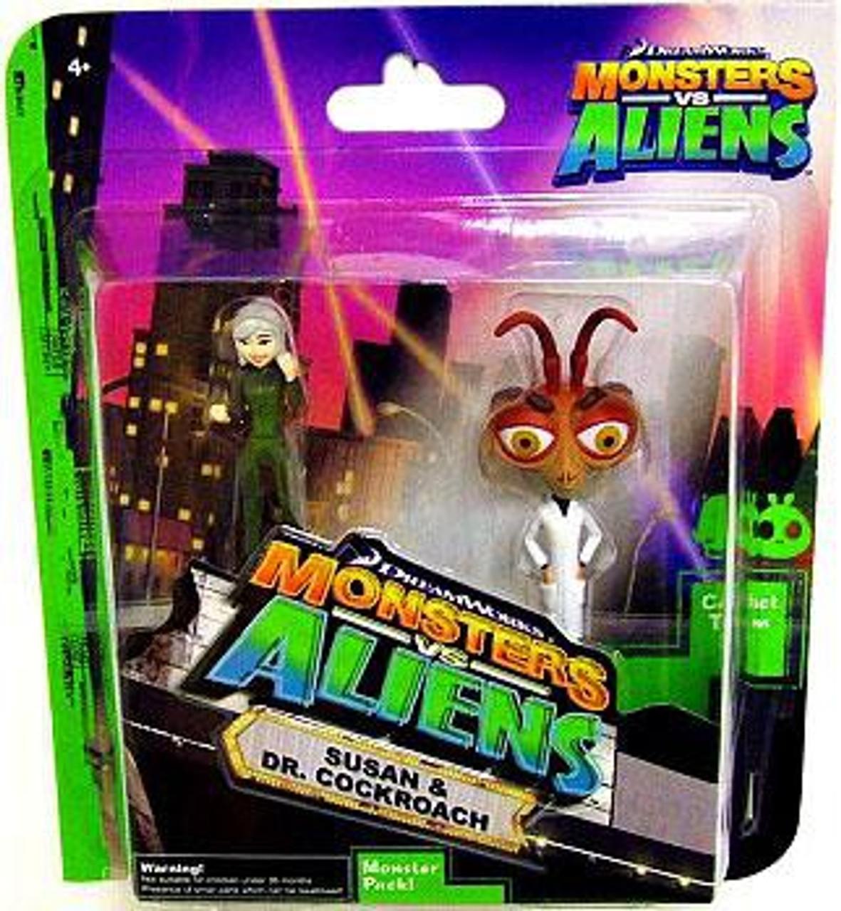 Monsters vs. Aliens Susan & Dr. Cockroach Mini Figure 2-Pack