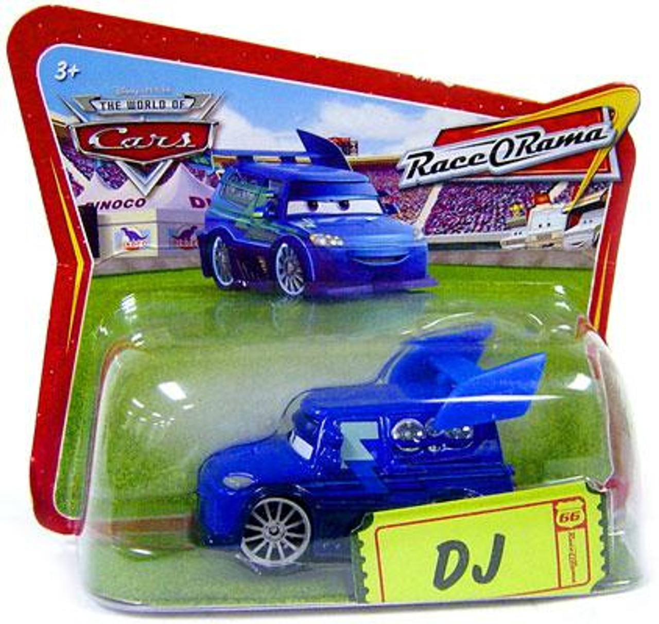 Disney Cars The World of Cars Race-O-Rama DJ Diecast Car [Checkout Lane Package]