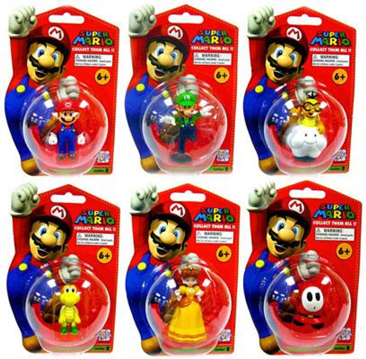 Super Mario Bros Series 2 Set of 6 Vinyl Mini Figures