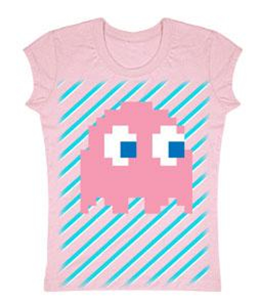 Pac Man Pink Ghost T-Shirt [Juniors Small]