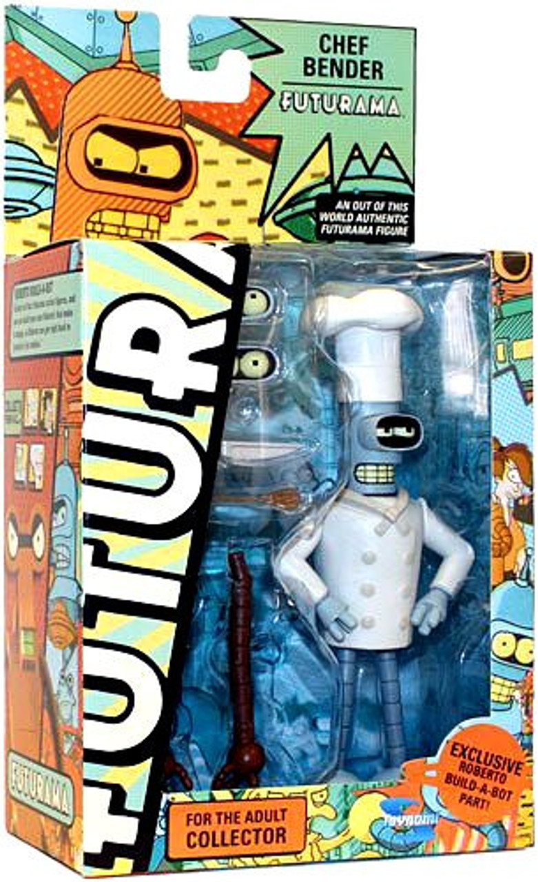 Futurama Series 8 Bender Exclusive Action Figure [Chef]