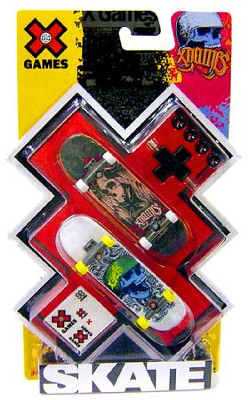 X Games Extreme Sports Skulls Mini Skateboard 2-Pack