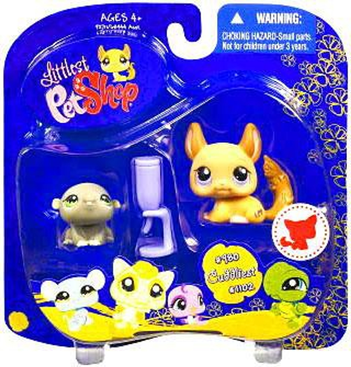 Littlest Pet Shop 2009 Assortment A Series 4 Hamster Figure 2-Pack #980 [Water Bottle]