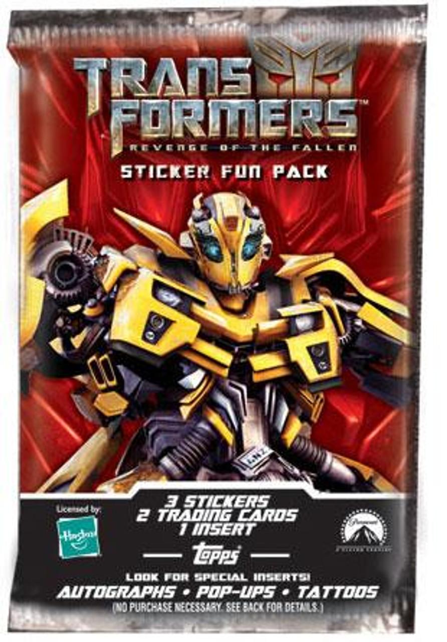 Transformers Revenge of the Fallen Trading Card Sticker Pack