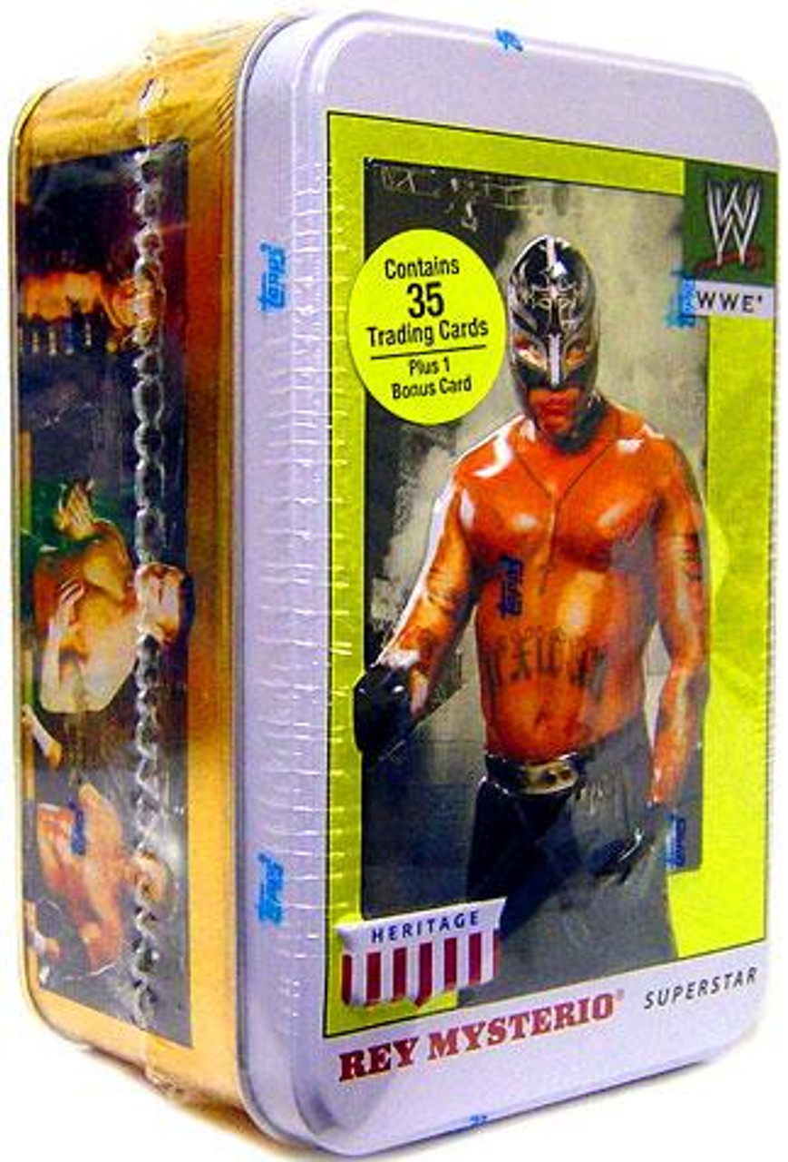 WWE Wrestling 2007 WWE Heritage Rey Mysterio Trading Card Tin