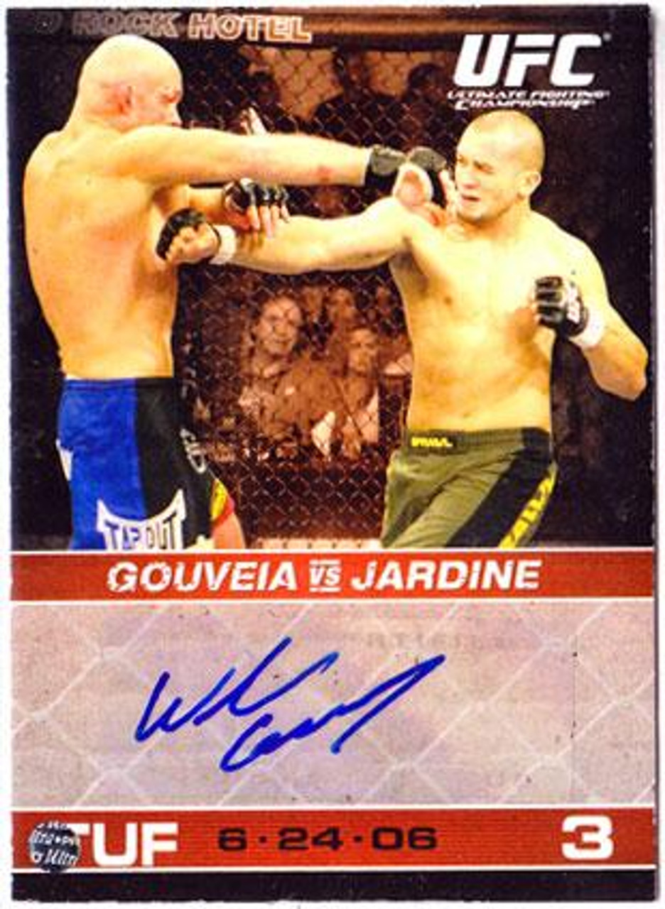 UFC 2009 Round 1 Wilson Gouveia Autograph Card