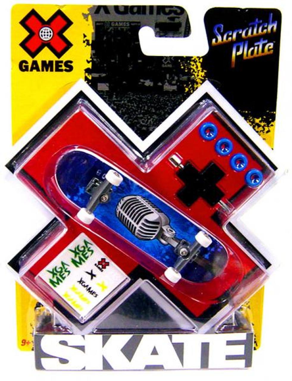 X Games Extreme Sports Vintage Microphone Mini Skateboard