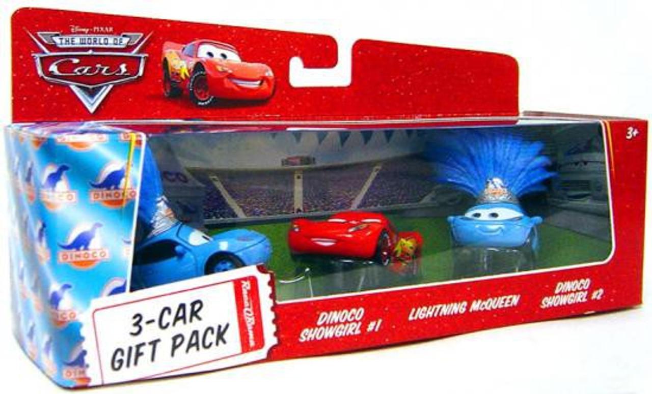 Disney Cars The World of Cars Multi-Packs Dinoco Showgirls 3-Car Gift Pack Diecast Car Set