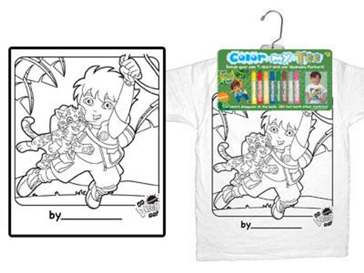 Go Diego Go! Color My Tee Diego T-Shirt [Child Small]