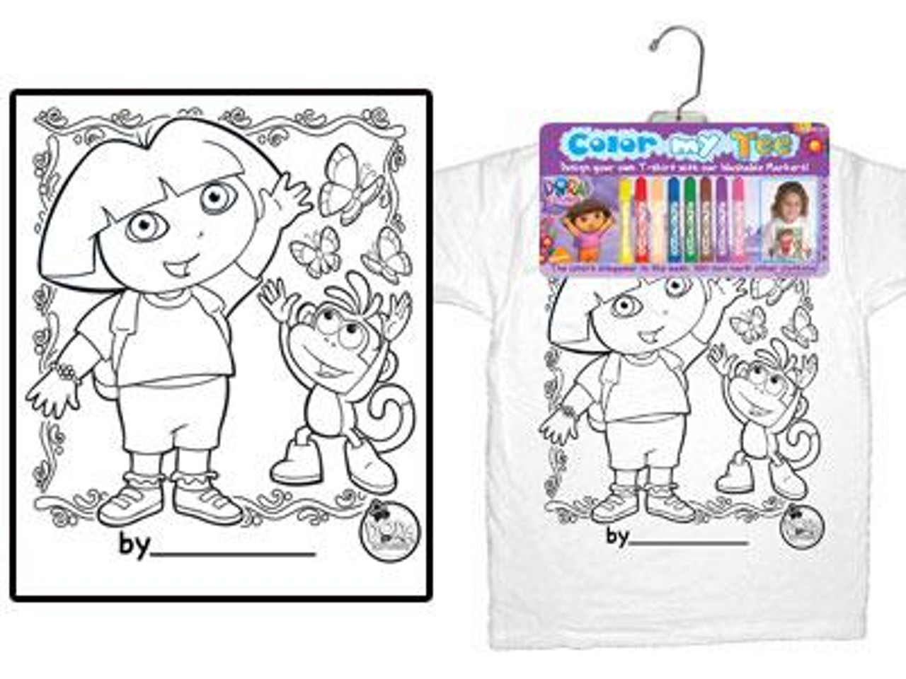 Dora the Explorer Color My Tee Dora T-Shirt [Child Small]