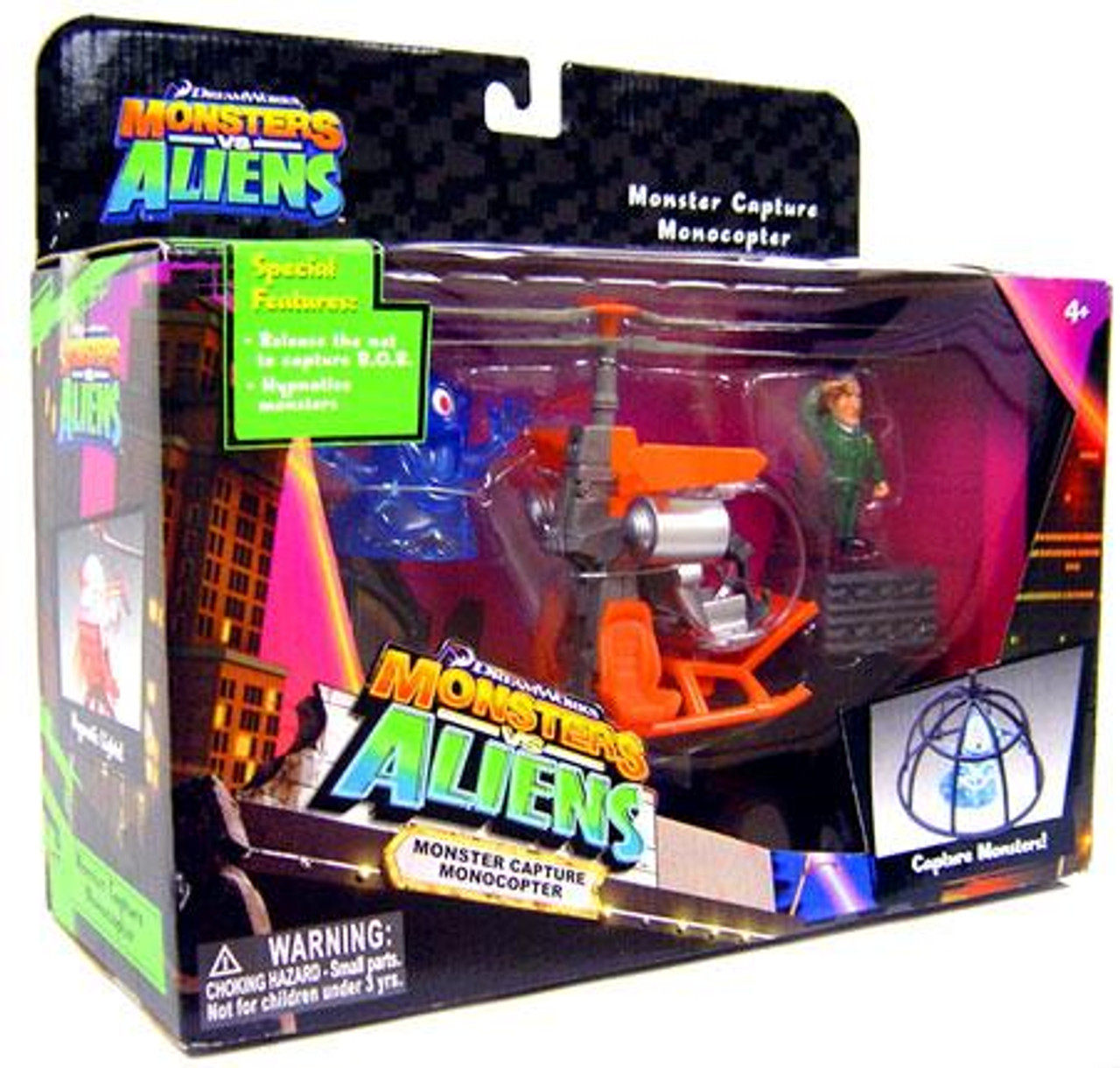 Monsters vs. Aliens Monster Capture Monocopter Playset