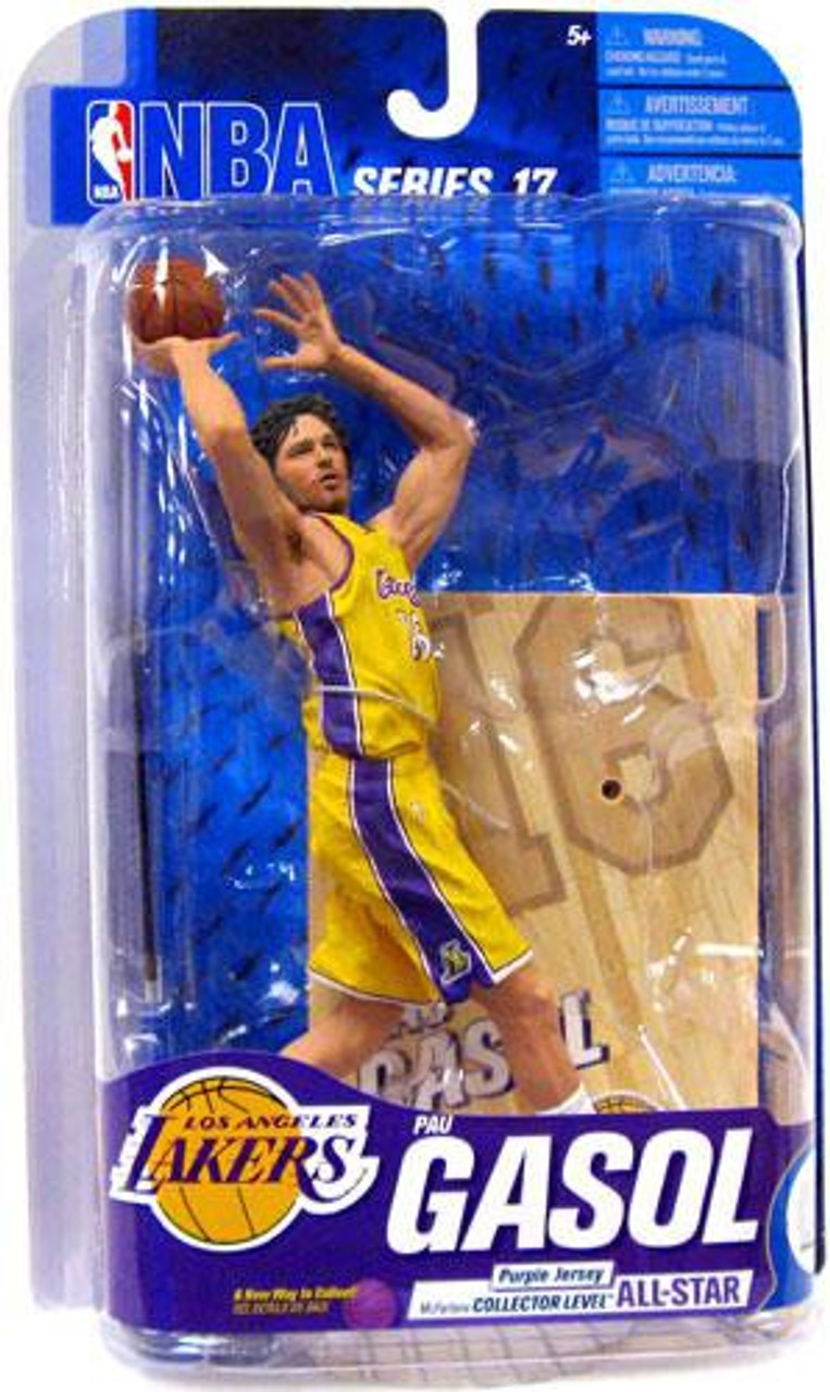 McFarlane Toys NBA Los Angeles Lakers Sports Picks Series 17 Pau Gasol Action Figure [Yellow Jersey]