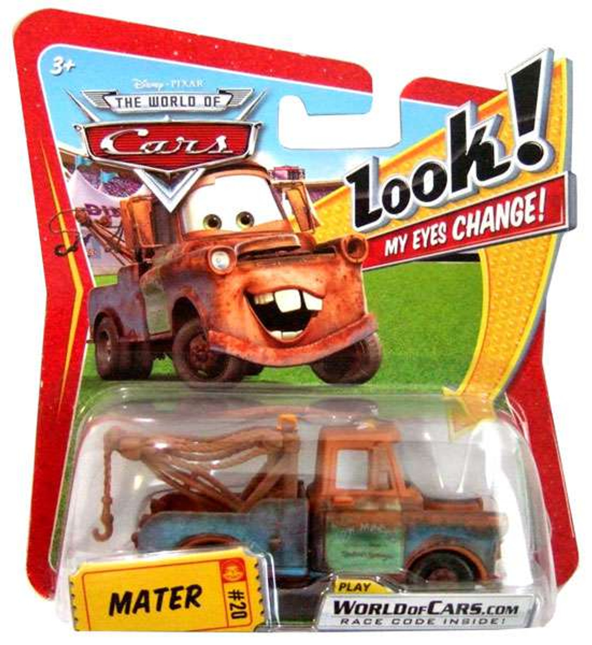 Disney Cars The World of Cars Lenticular Eyes Series 1 Mater Diecast Car
