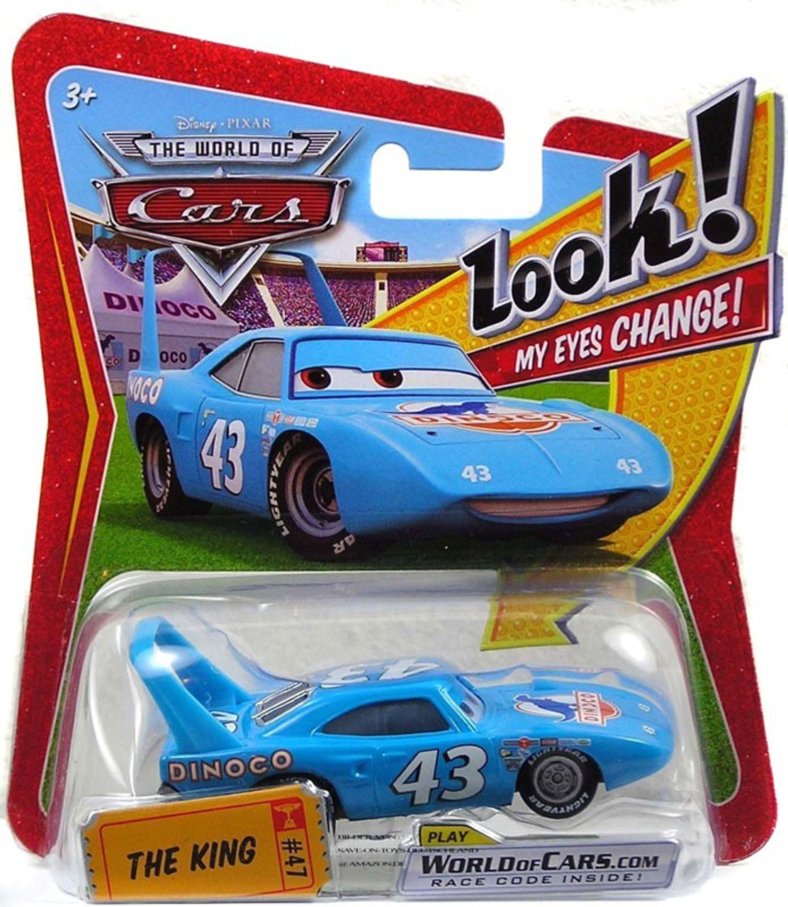 Disney Cars The World of Cars Lenticular Eyes Series 1 The King Diecast Car