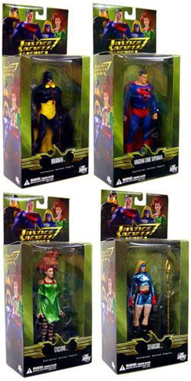 DC Justice Society of America Series 2 Set of 4 Action Figures