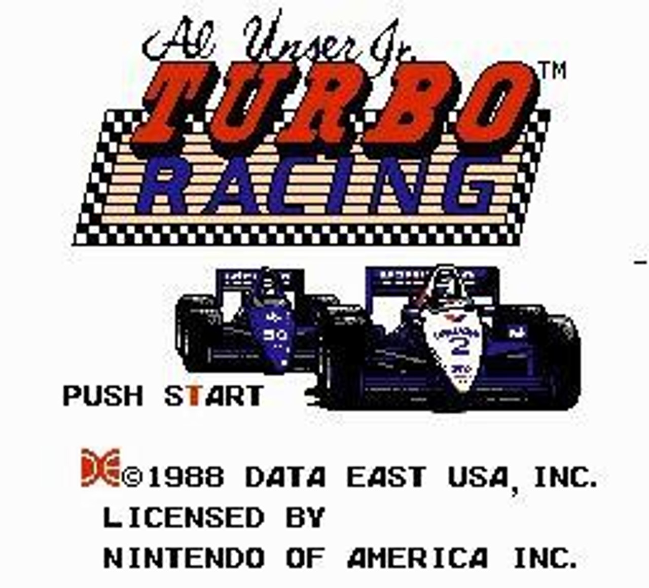 Nintendo NES Al Unser Jr. Turbo Racing Video Game Cartridge [Played Condition]
