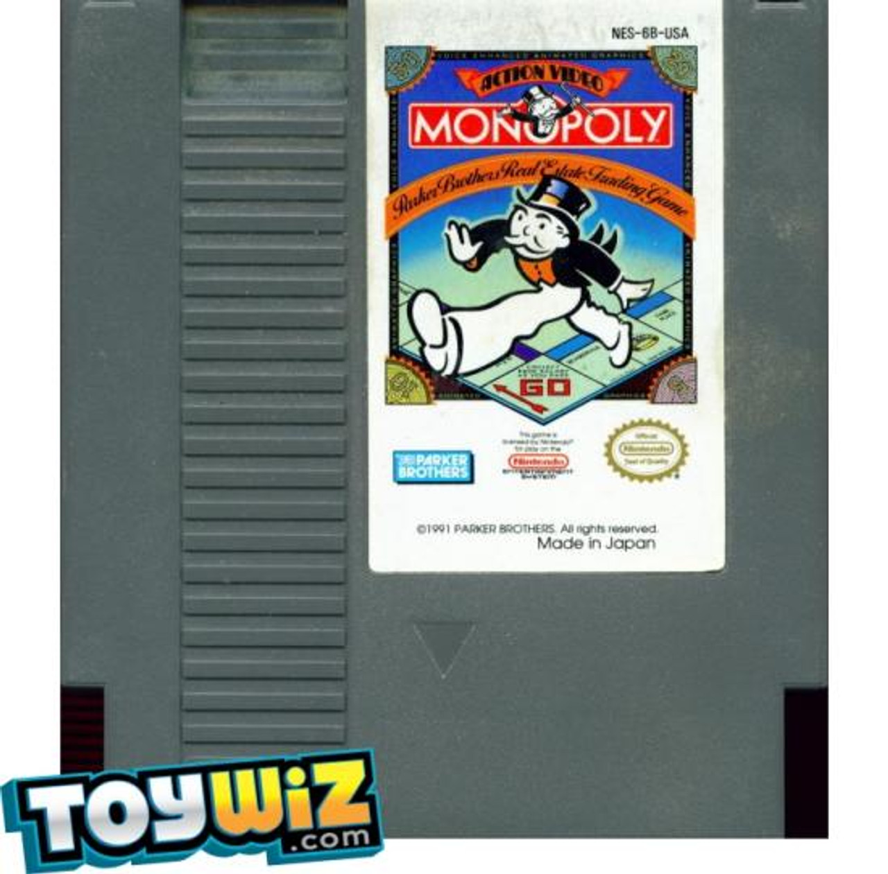 Nintendo NES Monopoly Video Game Cartridge [Played Condition]