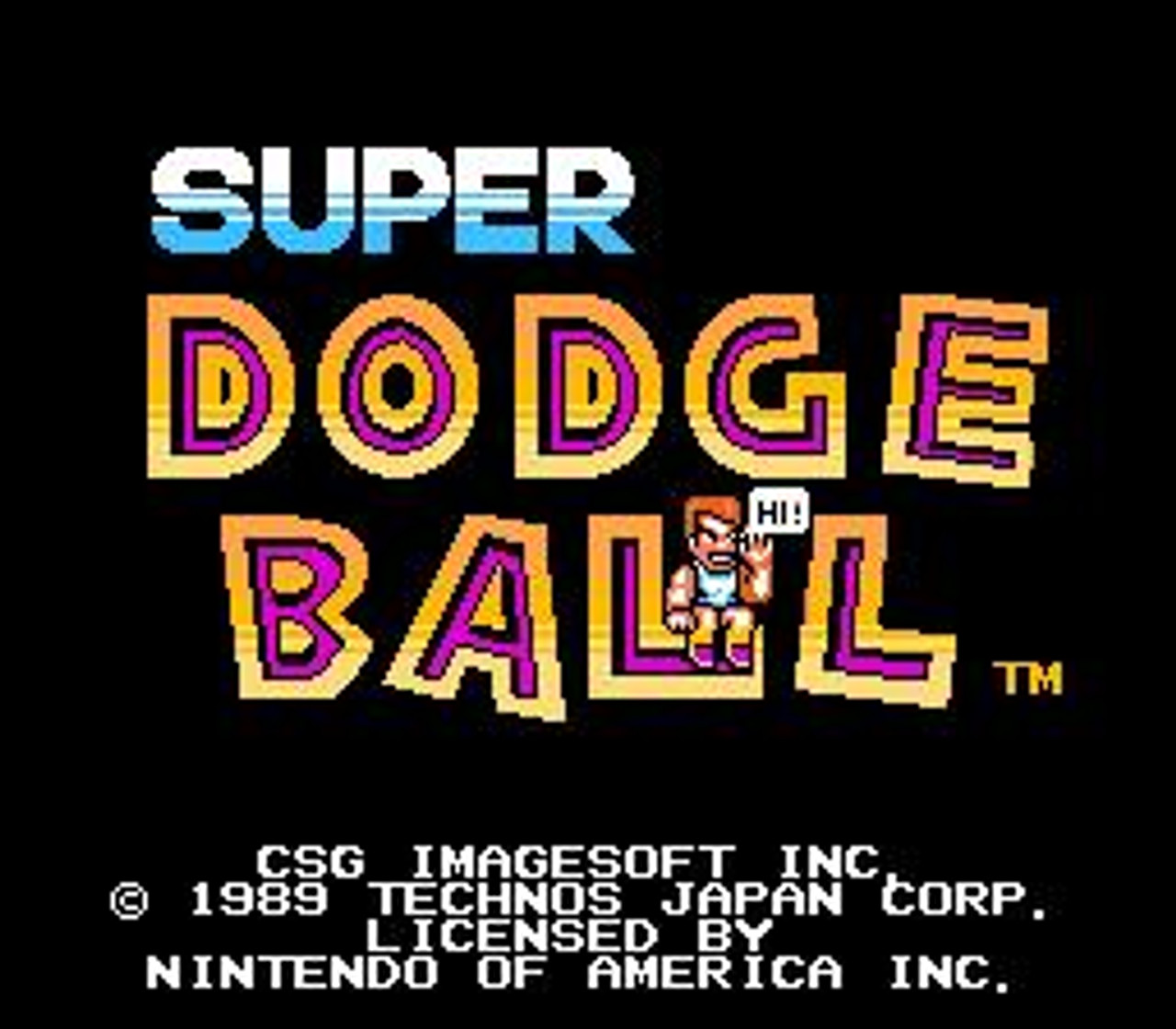 Nintendo NES Super Dodge Ball Video Game Cartridge [Played Condition]