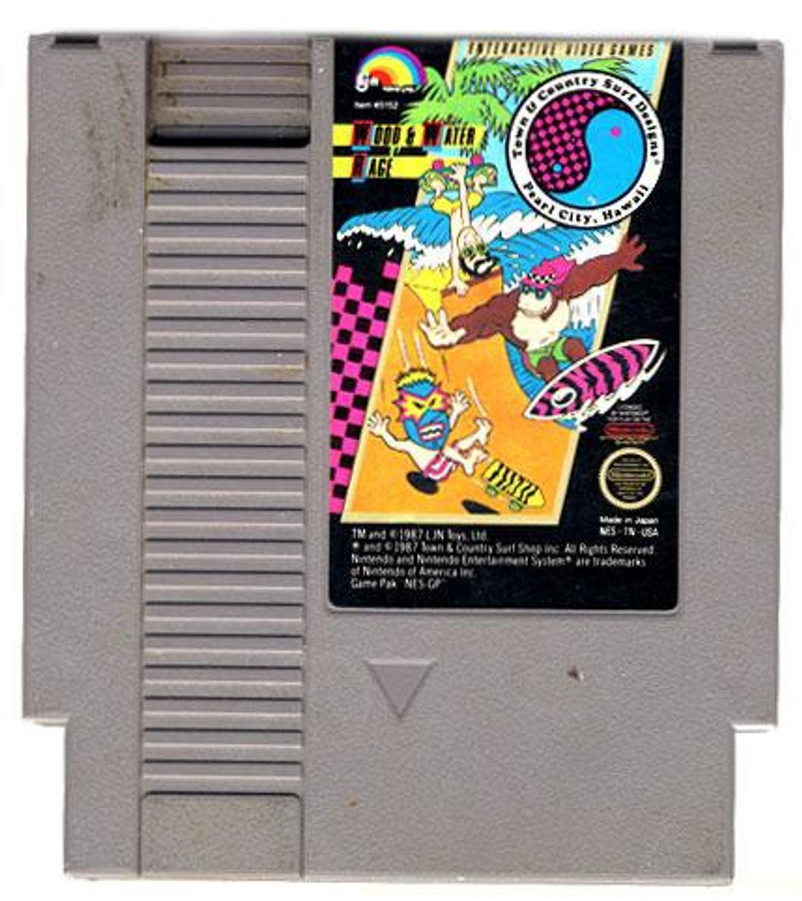 Nintendo NES Town & Country Surf Designs: Wood & Water Rage Video Game Cartridge [Played Condition]