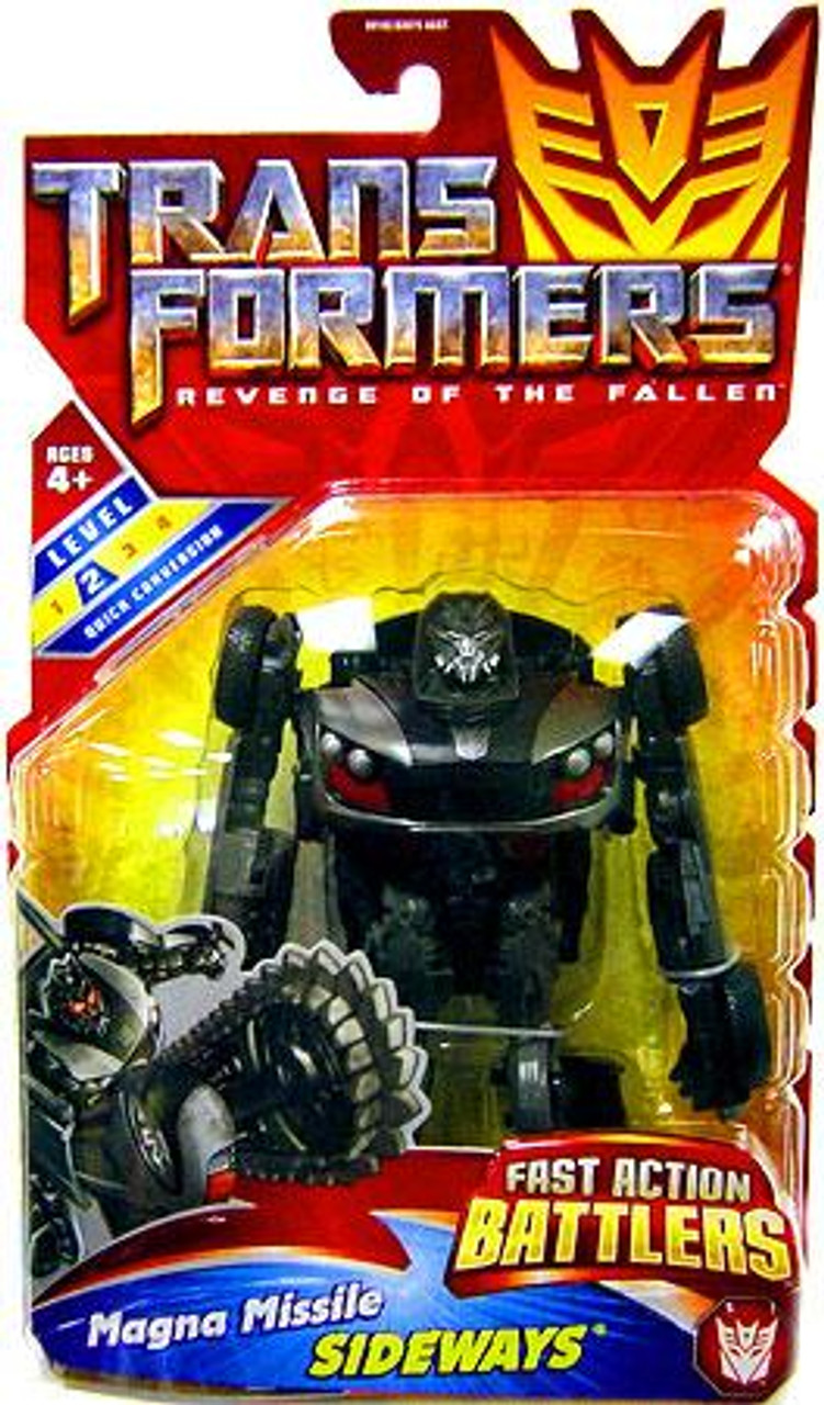 Transformers Revenge of the Fallen Fast Action Battlers Magna Missile Sideways Action Figure