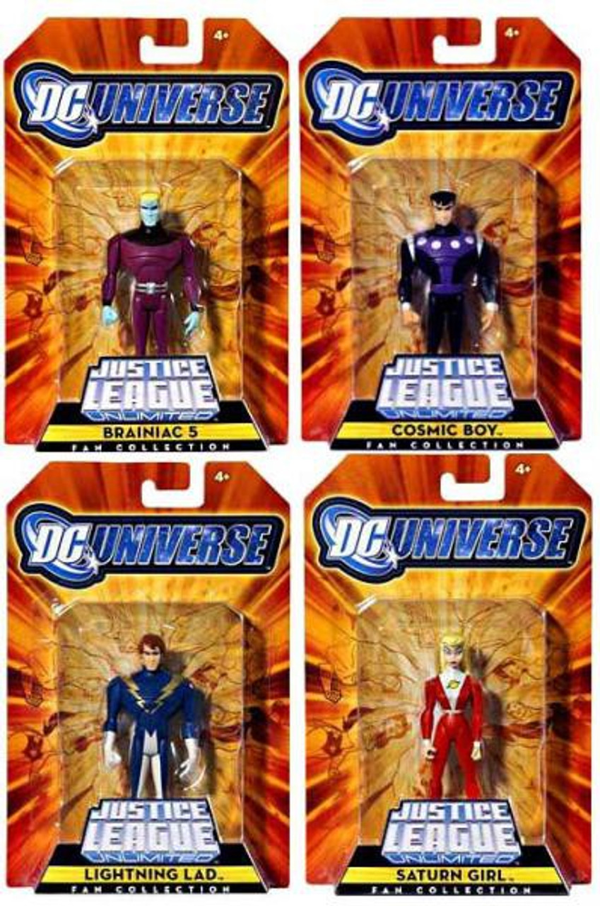 DC Justice League Unlimited Legion of Super Heroes Set of 4 Exclusive Action Figures